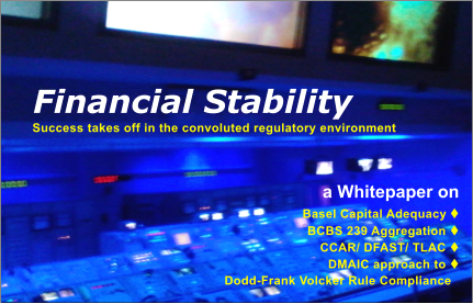 a Whitepaper on Basel Capital Adequacy t BCBS 239 Aggregation t  CCAR/ DFAST/ TLAC t   DMAIC approach to t                                                Dodd-Frank Volcker Rule Compliance   Success takes off in the convoluted regulatory environment Financial Stability